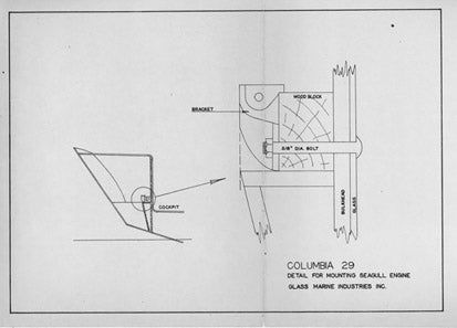 Columbia 29 Seagull Engine Mounting Plan
