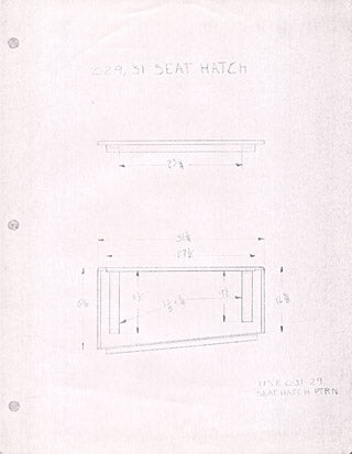Columbia 29 / 31 Seat Hatch Plan