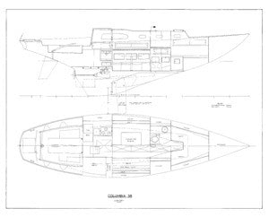 Columbia 38 Interior Arrangement Plan