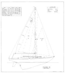 Columbia 38 Sail Plan - Keel