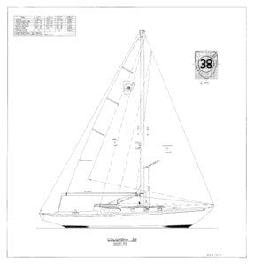 Columbia 38 Sail Plan - Short Rig