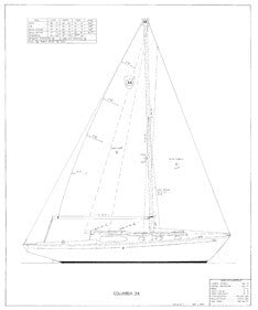 Columbia 34 Sail Plan