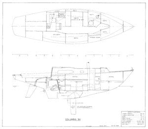 Columbia 34 Profile & Interior Plan