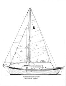 Pacific Seacraft 25 Mark II Sail Plan