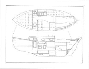 Pacific Seacraft 25 Interior Plan & Profile Plan