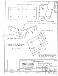 Westsail 42 Backstay Chainplate Plan