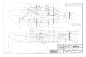 Islander 40 Bulkhead Locations Plan
