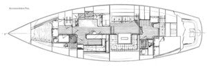 C&C Landfall 48 Interior Plan