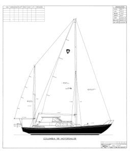 Columbia 56 Sail Plan