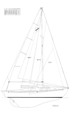 Columbia 29 Sail Plan