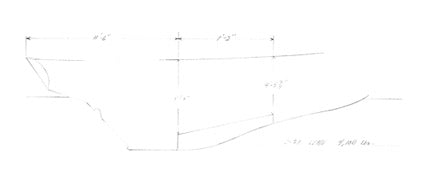 Columbia 29 Lead Keel Plan