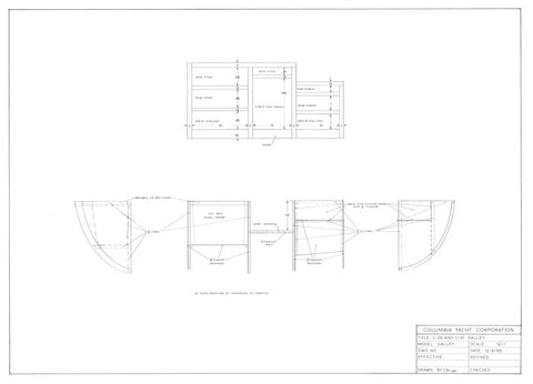 Columbia 29 / 31 Galley Plan
