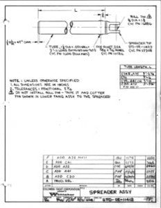 Columbia Yachts Spreader Assembly Plan