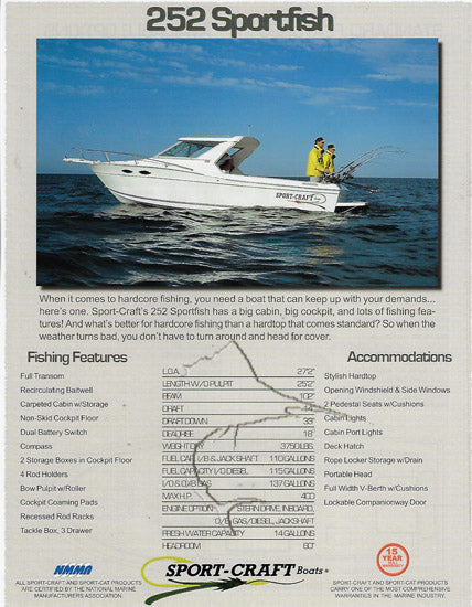 Sport Craft 252 Sportfish Brochure