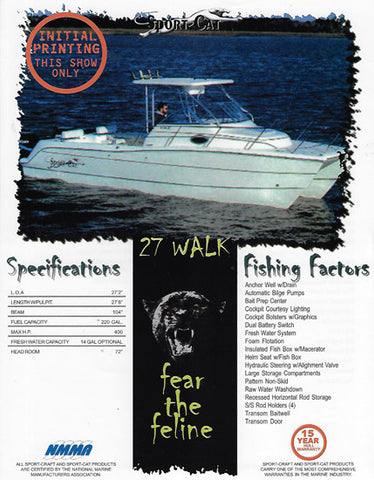 Sport Cat 27 Walkaround Brochure
