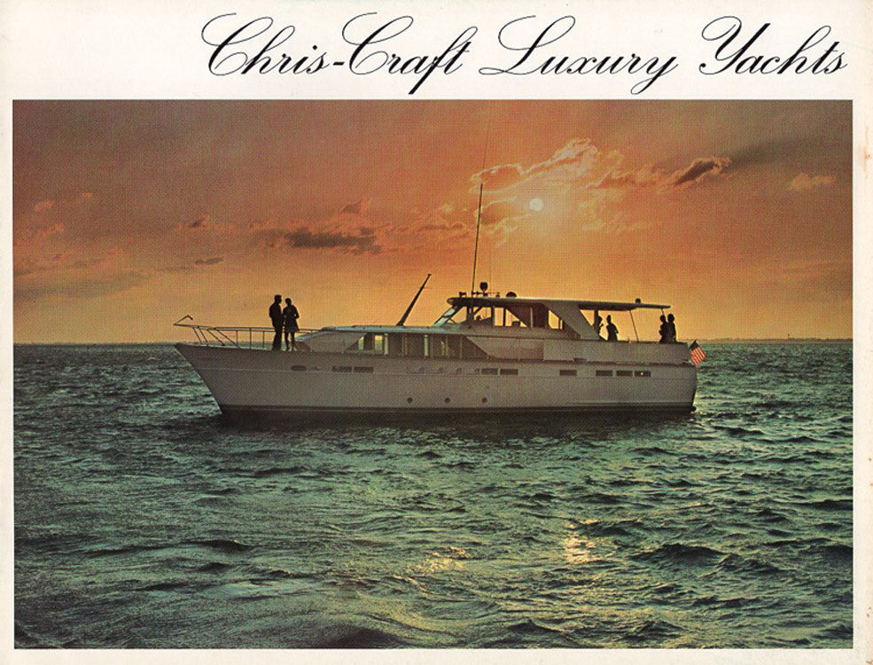 Chris Craft 1972 Luxury Yachts Brochure