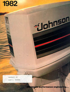 Johnson 1982 Outboard Brochure