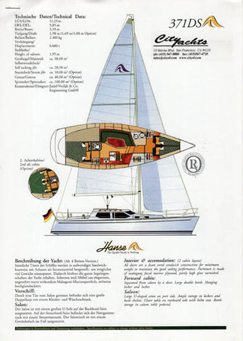 Hanse 371 Deck Salon Brochure