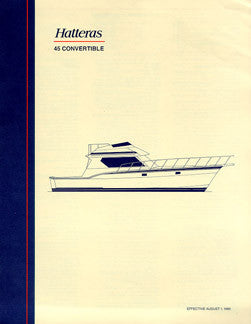 Hatteras 45 Convertible Specification Brochure