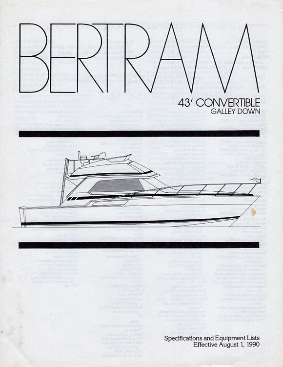 Bertram 43 Convertible Specification Brochure