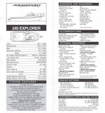 Aquasport 1998 Dealer Handbook Brochure