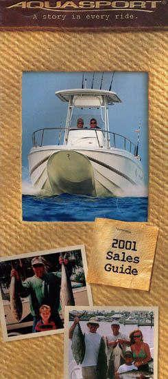 Aquasport 2001 Dealer Handbook Brochure