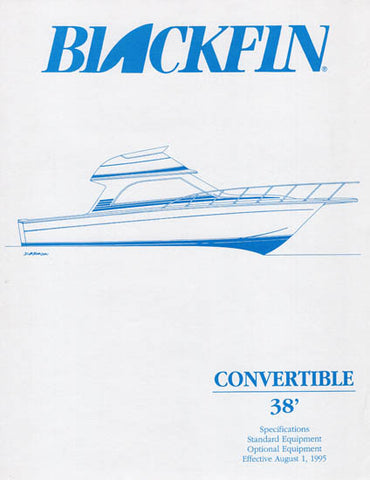 Blackfin 38 Convertible Specification Brochure