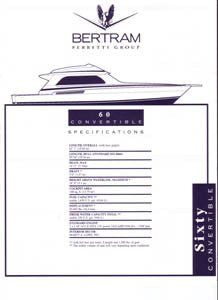 Bertram 60 Convertible Specification Brochure