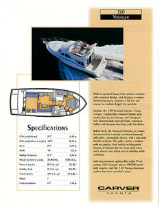 Carver 370 Voyager Specification Brochure