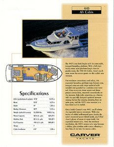 Carver 445 Aft Cabin Motor Yacht Specification Brochure