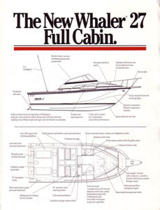Boston Whaler 27 Full Cabin Brochure