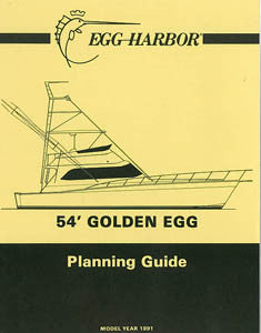 Egg Harbor Golden Egg 54 Specification Brochure