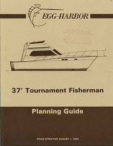 Egg Harbor 37 Tournament Fisherman Specification Brochure