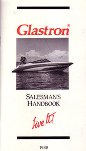 Glastron 1988 Dealer Fact Book - Rare