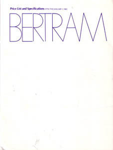 Bertram 1983 Specification Brochure