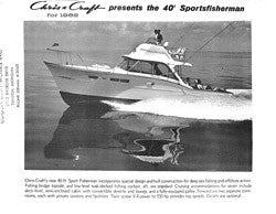 Chris Craft 40 Sport Fisherman Specifiction Brochure