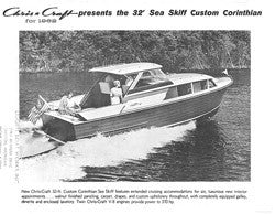 Chris Craft Sea Skiff 32 Corinthian Specifiction Brochure