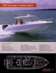 Boston Whaler 320 Outrage Cuddy Cabin Specification Brochure