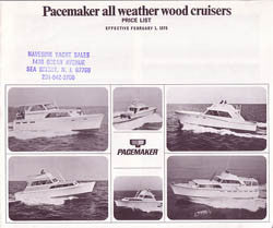 Pacemaker 1970 Price List Boat Brochure