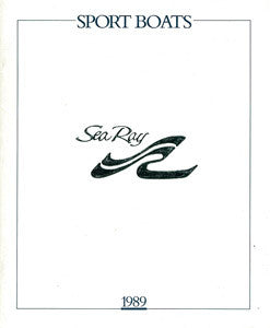 Sea Ray 1989 Sport Boats Brochure