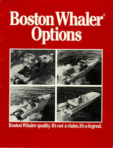 Boston Whaler 1987 Options Brochure