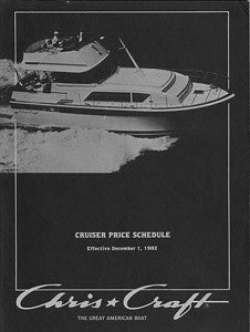 Chris Craft 1983 Cruisers Price List