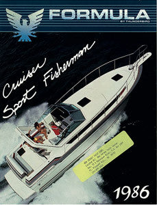 Formula 1986 Cruiser / Fisherman Brochure