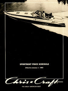Chris Craft 1983 Sport Boat Price List
