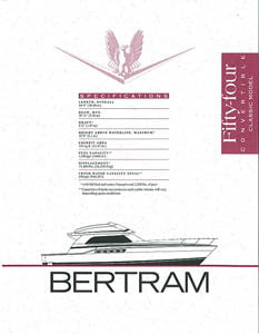 Bertram 54 Convertible Classic Specification Brochure