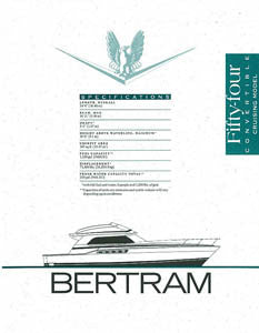 Bertram 54 Convertible Cruising Specification Brochure