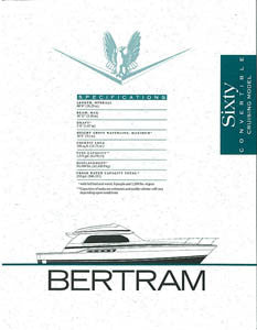 Bertram 60 Convertible Cruising Specification Brochure