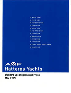 Hatteras 1973 Specification Brochure