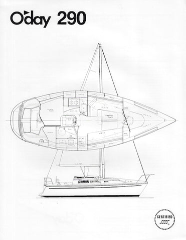 O'Day 290 Specification Brochure