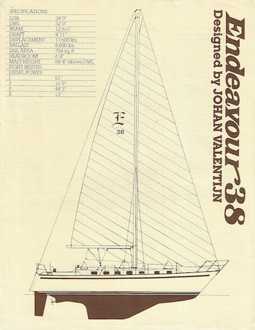 Endeavour 38 Aft Cockpit Specification Brochure